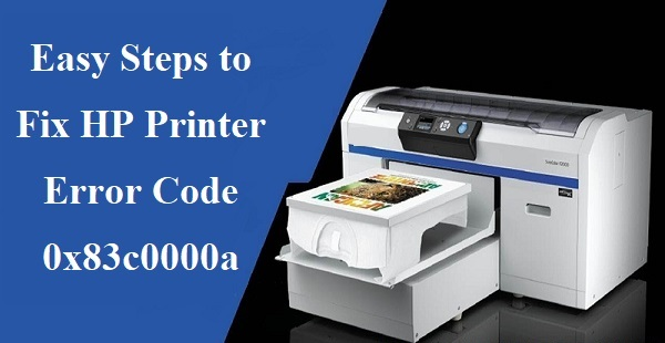 5 Steps to Fix HP Printer Error Code 0x83c0000a | 18885009609